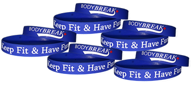 BodyBreak + Keep Fit & Have Fun Wristband (5 Pack)