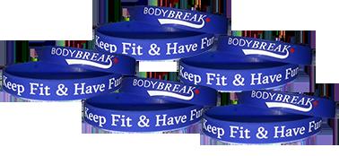 BodyBreak + Keep Fit & Have Fun Wristband (5 Pack)